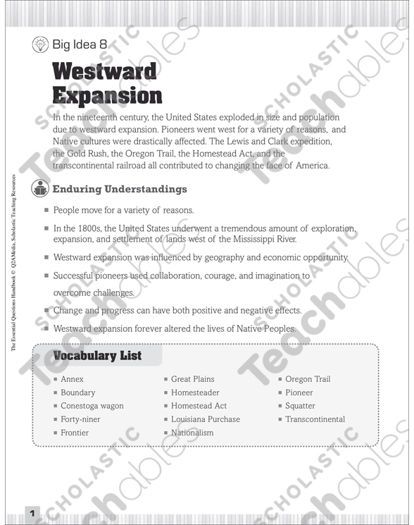 See Inside: Westward Expansion Worksheets At Alzheimers-prions.com