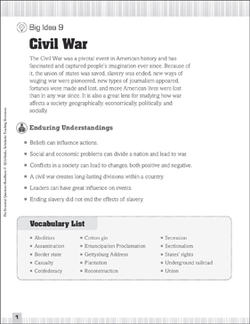 graphic relating to Civil War Printable Worksheets identify Critical Queries for Social Scientific studies: Civil War