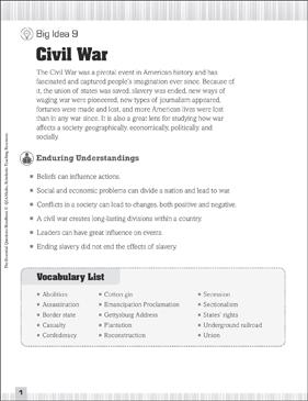 picture regarding Civil War Printable Worksheets identify Important Queries for Social Scientific tests: Civil War