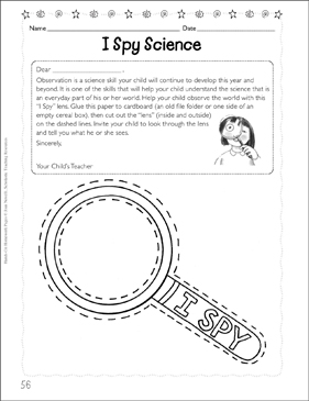 image relating to I Spy Printable Worksheets identify I Spy Science (Developing Observations) Printable Capabilities Sheets