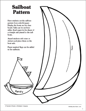 image relating to Sailboat Printable referred to as Sailboat Routine Printable Arts, Crafts and Bulletin Message boards
