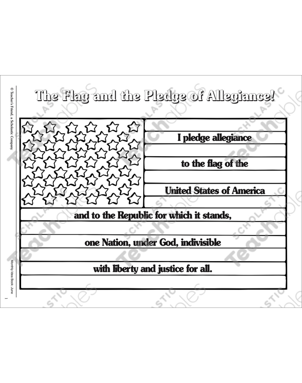 The Flag And The Pledge Of Allegiance Printable Games Puzzles