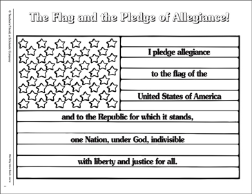 photo about Pledge of Allegiance Printable named The Flag and the Pledge of Allegiance Printable Online games