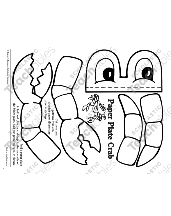 Paper Plate Crab  sc 1 st  Scholastic Teachables & Paper Plate Crab | Printable Arts Crafts and Skills Sheets