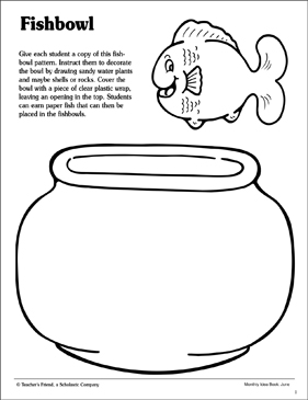 Fishbowl Coloring Page Printable Coloring Pages
