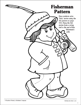 Fishing Pole Coloring Page - ClipArt Best | 365x282