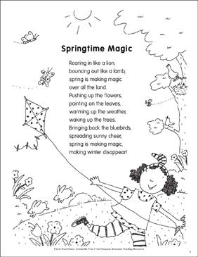 Springtime Magic: Poem and Activities | Printable Lesson