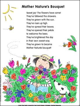 Mother Nature's Bouquet: Poem and Activities | Printable