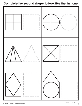 shapes trace draw shapes within shapes fine motor skills printable skills sheets. Black Bedroom Furniture Sets. Home Design Ideas
