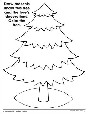 Christmas Tree: Fine Motor Skills (Practice Page)