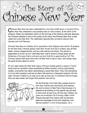 The Story of Chinese New Year | Printable Lesson Plans ...