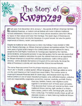 Kwanzaa: A Winter Holidays Unit | Printable Lesson Plans ...