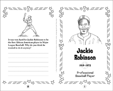 Jackie Robinson: Famous American | Printable Mini-Books