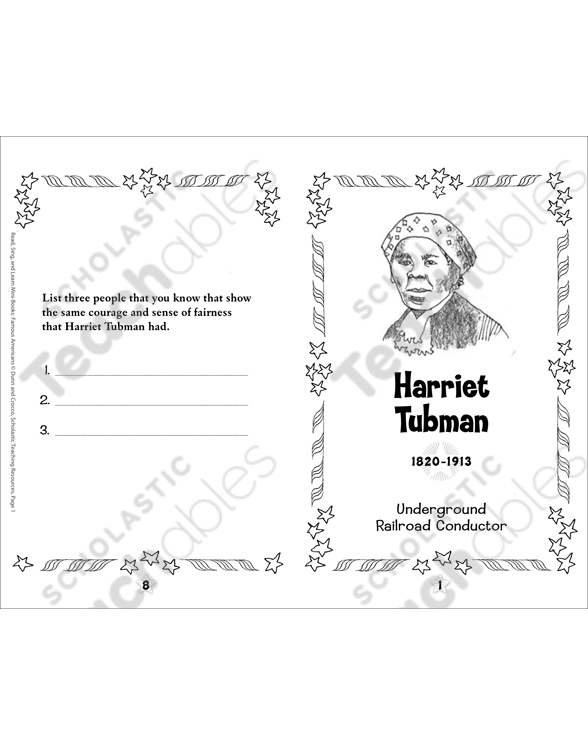 Harriet Tubman Famous American Minibook Printable Minibooks. See Inside. Worksheet. Harriet Tubman Worksheets At Mspartners.co