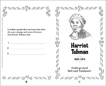 picture regarding Harriet Tubman Printable Worksheets identified as Harriet Tubman: Renowned American Printable Mini-Publications