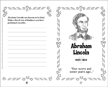 graphic about Printable Pictures of Abraham Lincoln identify Abraham Lincoln: Renowned American Printable Mini-Publications