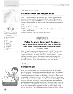 image about Printable Internet Scavenger Hunt titled Polar Pets: Polar World wide web Scavenger Hunt and Camouflage
