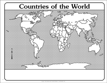 Countries of the World: Outline Map | Printable Maps and ...