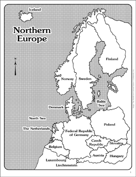 Maps of Northern Europe (Labeled and Unlabeled) | Printable Maps and ...