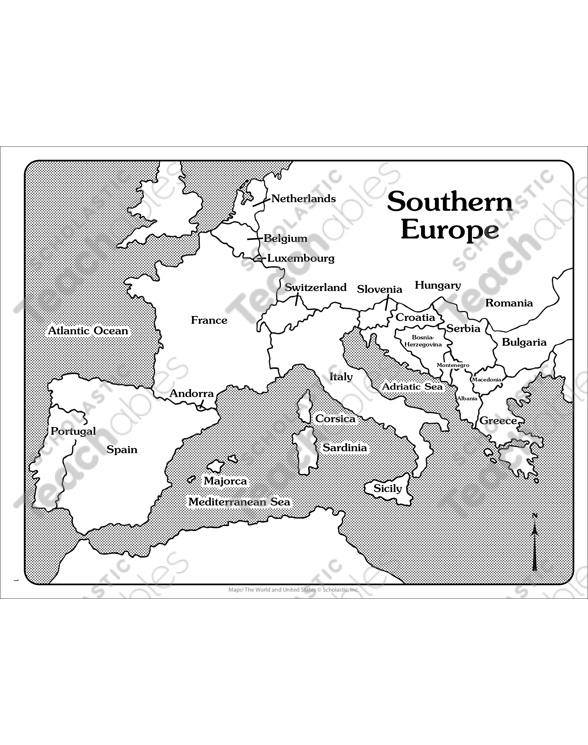 It is an image of Europe Map Printable intended for fill in