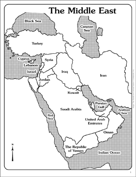 Maps of the Middle East (Labeled and Unlabeled) | Printable ...