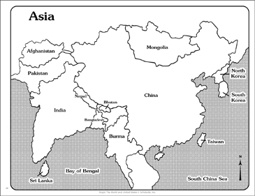 Maps of Asia (Labeled and Unlabeled) | Printable Maps and ...