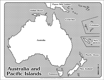 Australia And Pacific Map.Maps Of Australia And Pacific Islands Printable Maps And Skills Sheets