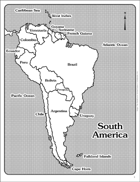 Map Of South America Unlabeled.Maps Of South America Labeled And Unlabeled Printable Maps And