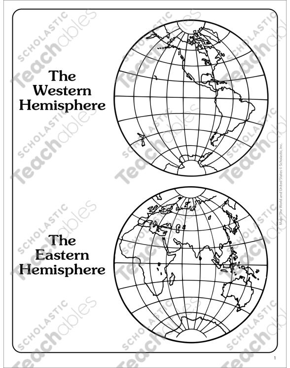 Western and eastern hemispheres outline map printable maps and see inside image gumiabroncs Image collections