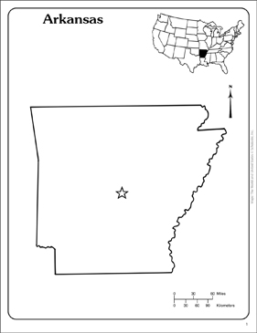 photo about Printable Map of Arkansas identified as Arkansas: Country Define Map Printable Maps and Techniques Sheets