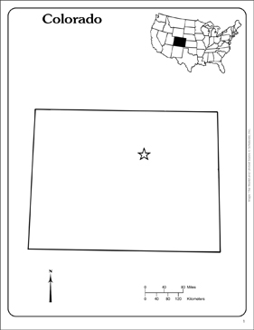 Colorado: State Outline Map | Printable Maps and Skills Sheets