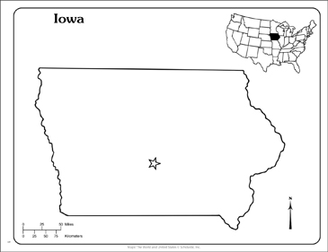 graphic regarding Printable Map of Iowa identify Iowa: Place Define Map Printable Maps and Expertise Sheets