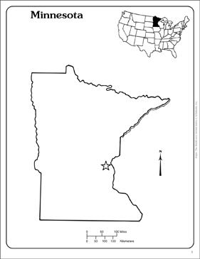graphic relating to Printable Maps of Minnesota called Minnesota: Region Determine Map Printable Maps and Expertise Sheets
