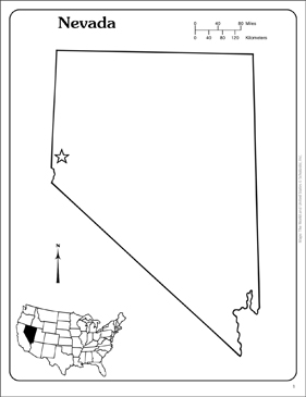 Nevada State Outline Map Printable Maps