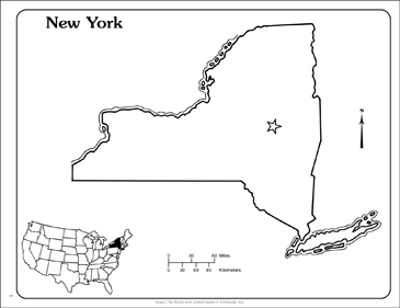 image relating to Printable Maps of New York State identify Clean York: Nation Determine Map Printable Maps and Competencies Sheets