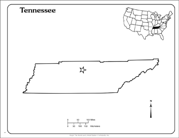 image regarding Printable Maps of Tennessee titled Tennessee: Country Define Map Printable Maps and Abilities Sheets
