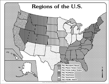 Regions of the U.S. (Outline Map) | Printable Maps and ...