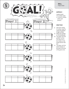 picture regarding Printable Place Value Game referred to as Intent! (Issue Price): A single-Web site Math Video game Printable Recreation