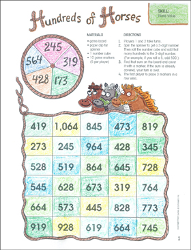graphic about Place Value Game Printable named 1000's of Horses (Position Worthy of): A person-Web site Math Video game