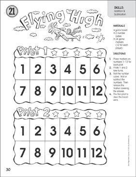 photograph relating to Addition and Subtraction Games Printable identified as Traveling Superior (Addition Subtraction): Just one-Website page Math Video game