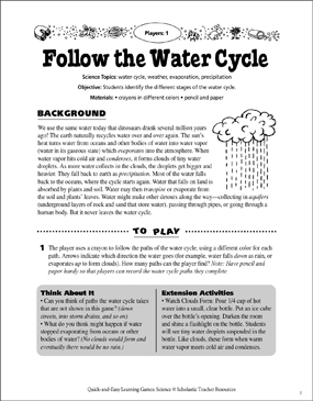 photograph about Water Cycle Printable referred to as The Drinking water Cycle Match Board Printable Match Message boards and