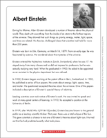 graphic about Printable Biographies for 3rd Graders called Biography Printables Worksheets for Youngsters of All Grades