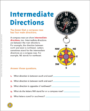 Intermediate Directions: Map Skills | Printable Maps and ...
