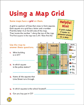 using a map grid grade 3 map skills printable maps and skills sheets. Black Bedroom Furniture Sets. Home Design Ideas