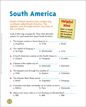 photograph relating to Printable South American Map referred to as South The us: Map Abilities Printable Maps and Capabilities Sheets
