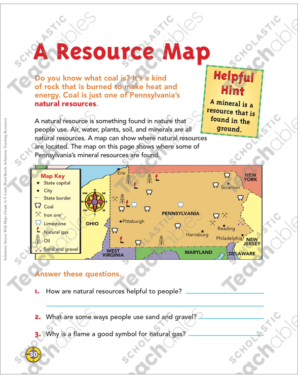 What Is A Resource Map A Resource Map: Map Skills | Printable Maps and Skills Sheets