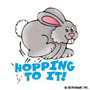 HOPPING TO IT!: Mini-Sticker - Image Clip Art