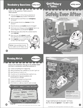 Safely Ever After: Vocabulary Tale - Printable Worksheet