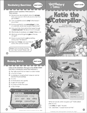 Katie the Caterpillar (Insect Words) - Printable Worksheet