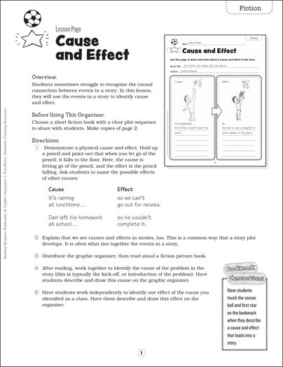 picture about Cause and Effect Graphic Organizer Printable identify Trigger and Affect: Looking through Remedy Bookmark Image